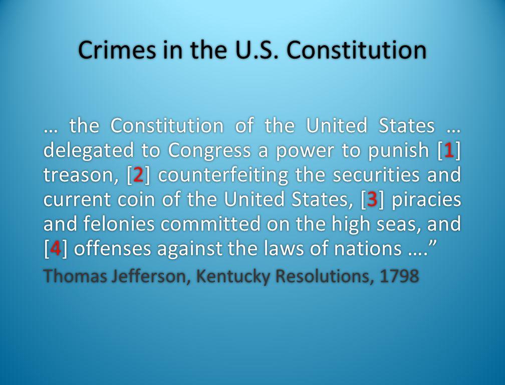 Characteristics of Coercive Federalism Federalization of Criminal Law