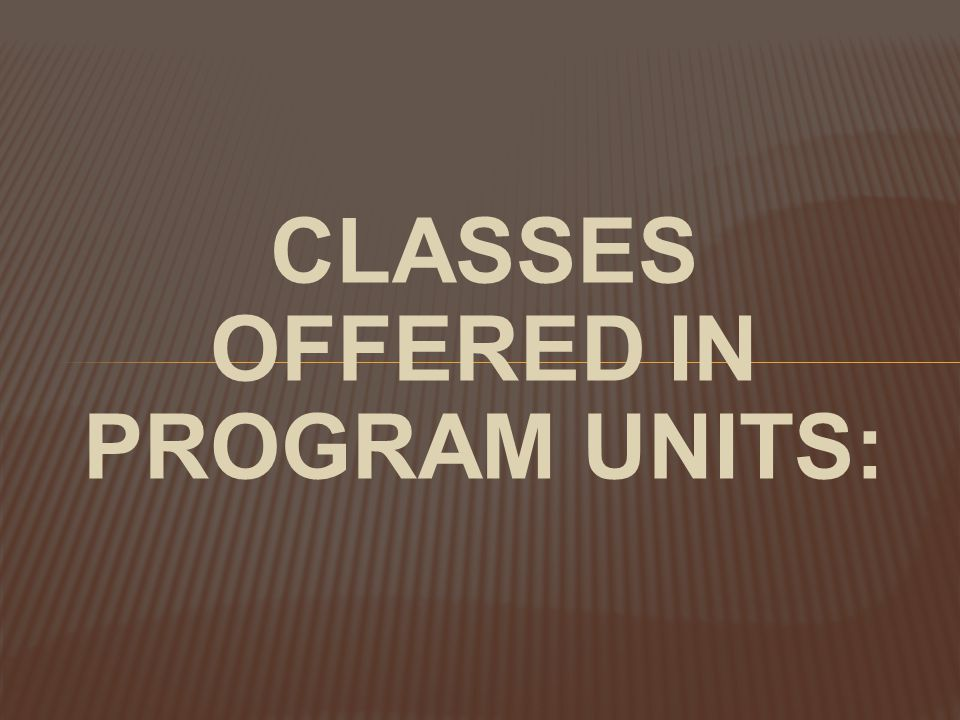 Overall Program Units:  Correctional Industries  Education (Academic)  Education (Vocational)  Guidance and Counseling  Division of Hispanic and Cultural Affairs  Library Services  Ministerial, Family and Volunteer Services  Resource Management  Special Subjects  Substance Abuse Treatment Services  Temporary Release  Transitional Services Program