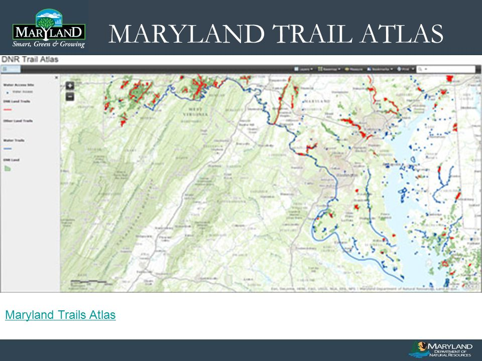 MARYLAND TRAIL ATLAS Maryland Trails Atlas