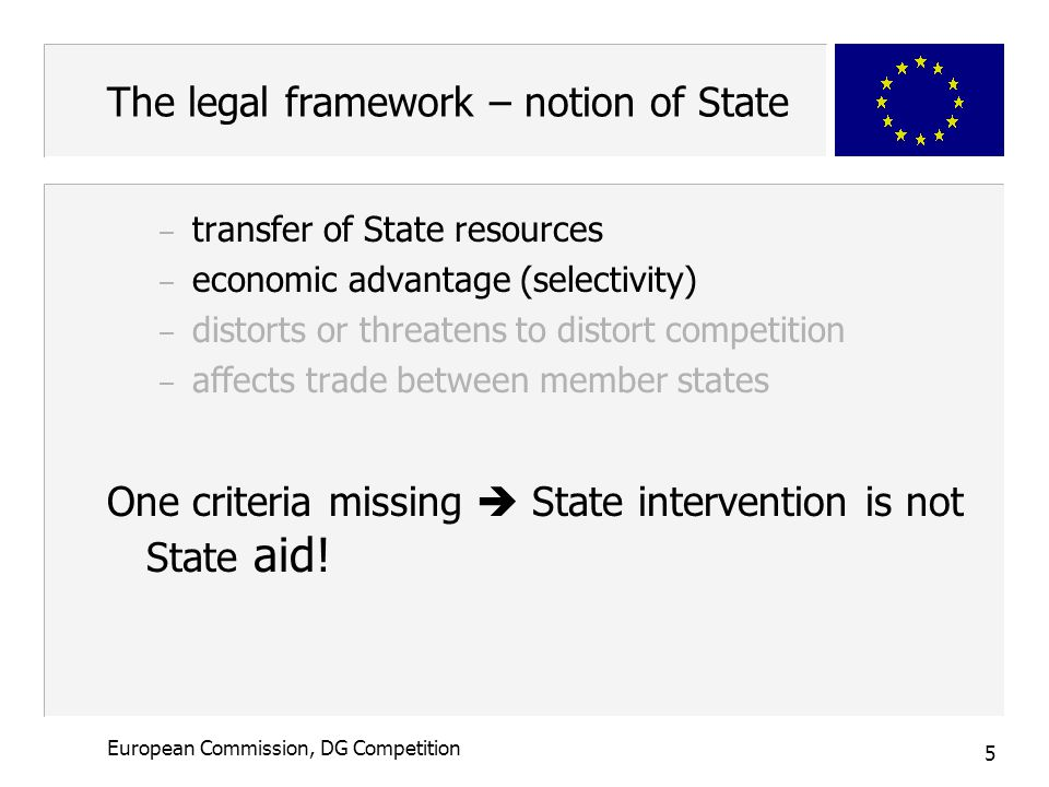6 European Commission, DG Competition The legal framework – compatibility n Art.