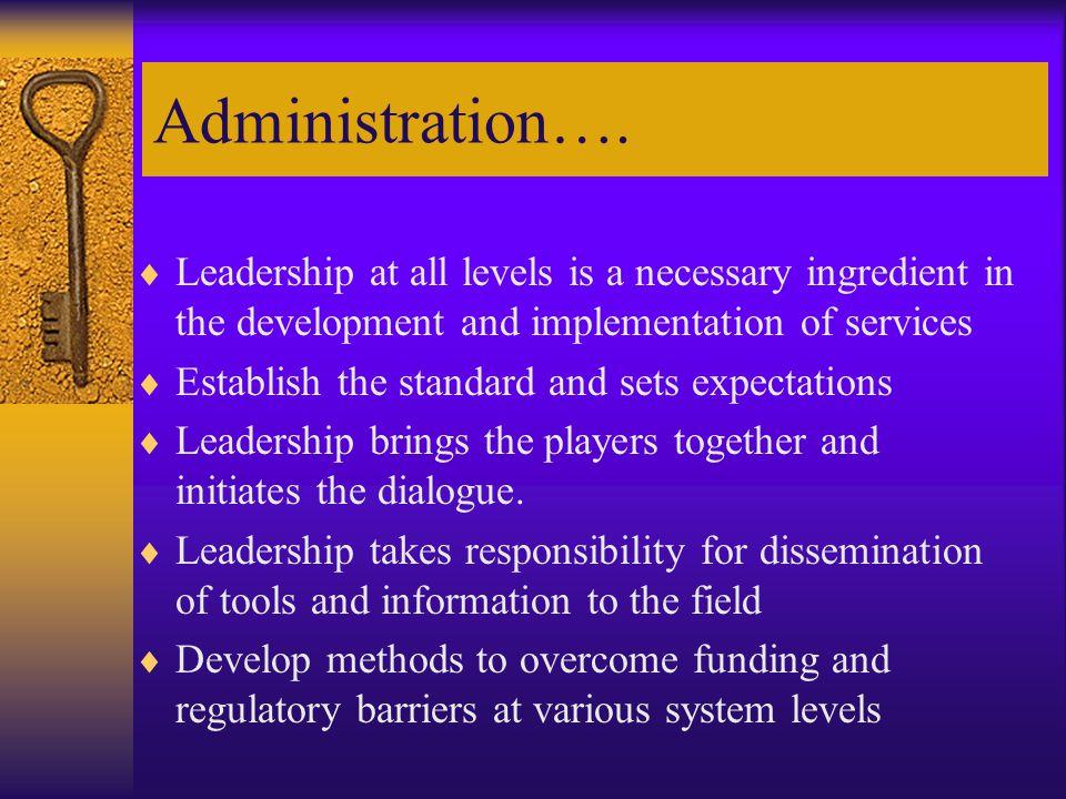 Administration….
