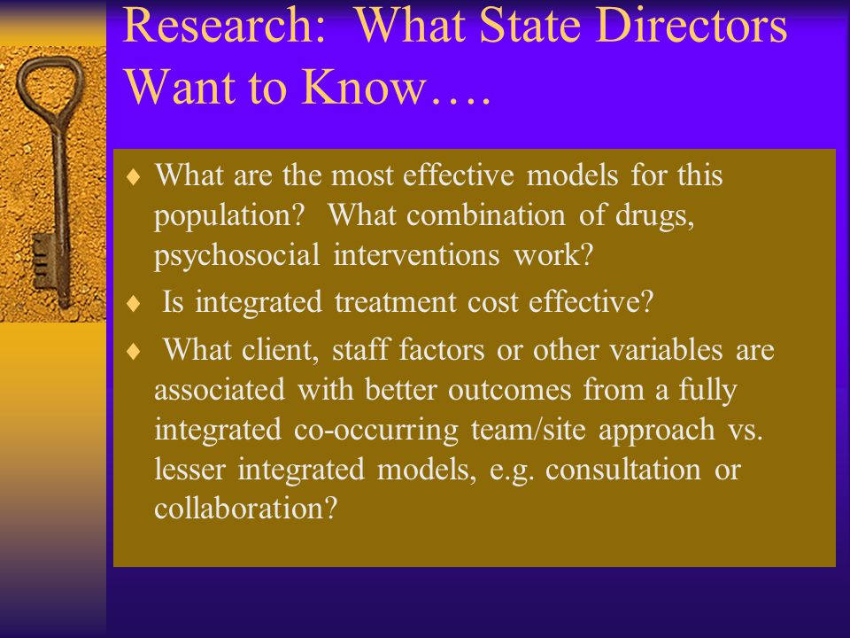Research: What State Directors Want to Know….