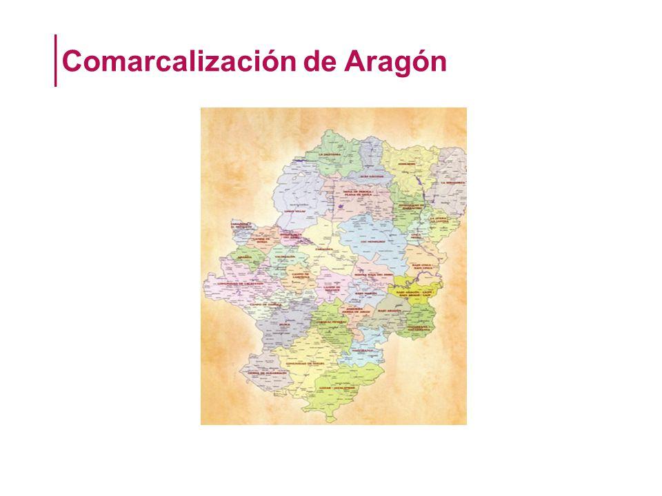 Comarcalización de Aragón