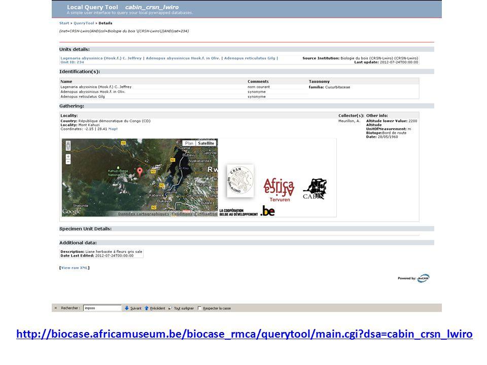http://biocase.africamuseum.be/biocase_rmca/querytool/main.cgi dsa=cabin_crsn_lwiro