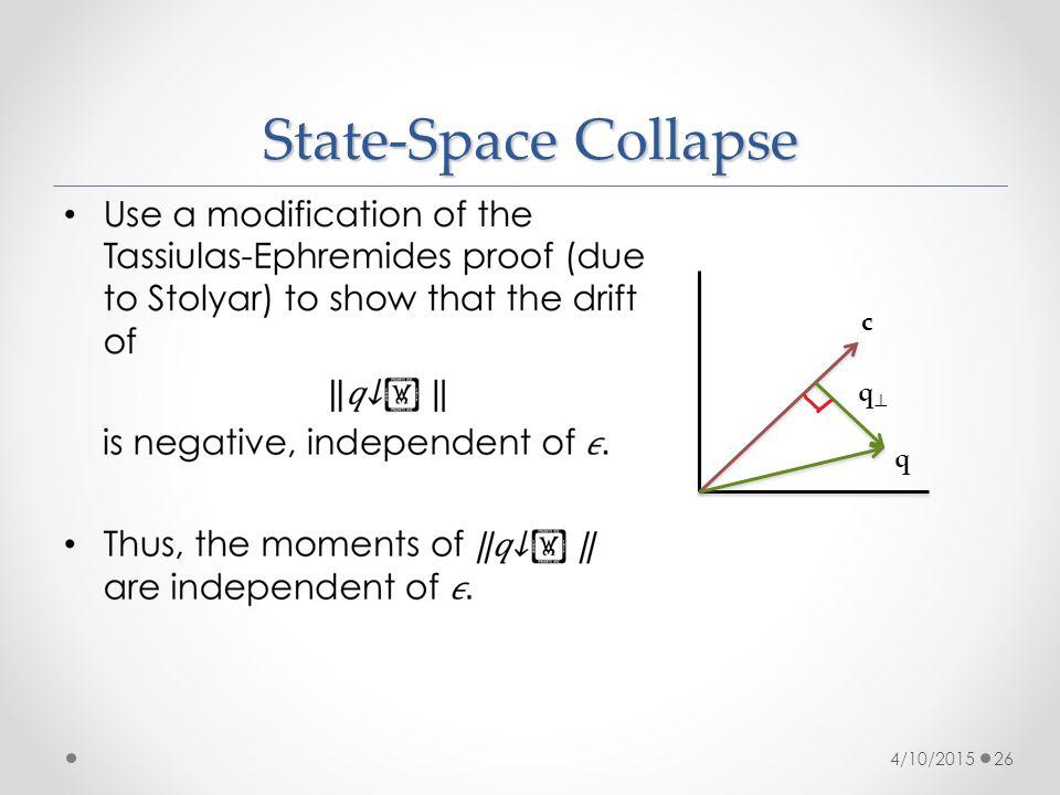 State-Space Collapse 4/10/201526 c q qq
