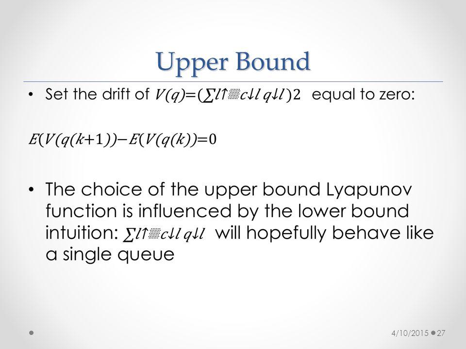Upper Bound 4/10/201527