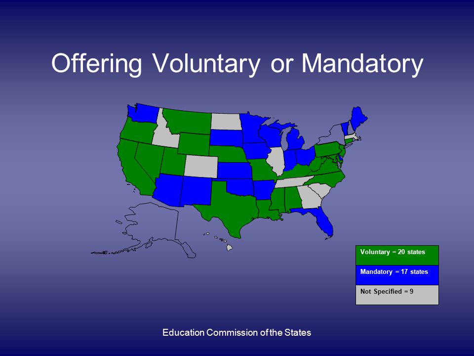 Education Commission of the States Who Is Primarily Responsible for Paying Tuition Student/parents: 22 states Student's school district: 6 states Participating PS institution: 3 states State DOE or other state org.: 3 states Four states have multiple dual enrollment programs w/diff.