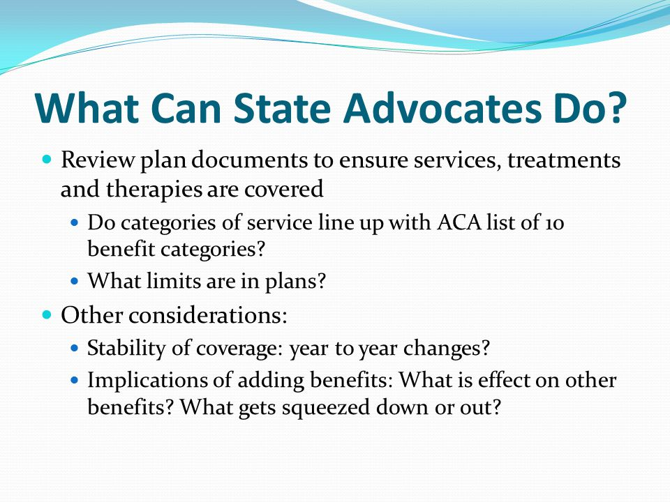 What Can State Advocates Do.