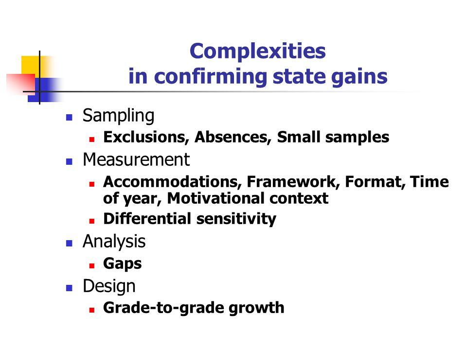 Another look at NAEP's role in the context of NCLB Confirm state gains.