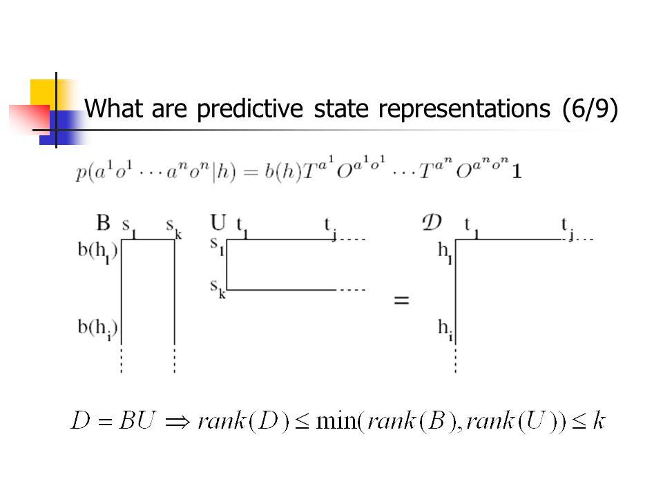 What are predictive state representations (6/9)