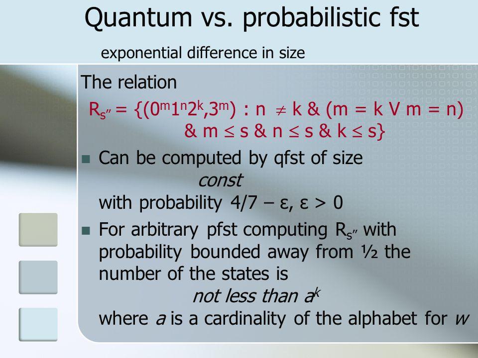 Quantum vs.