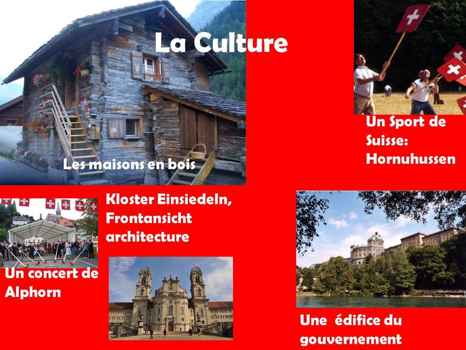 La Culture Un concert de Alphorn Kloster Einsiedeln, Frontansicht architecture Une édifice du gouvernement Les maisons en bois Un Sport de Suisse: Hornuhussen