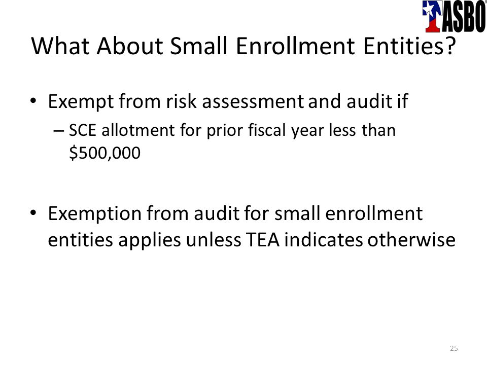 What About Small Enrollment Entities.