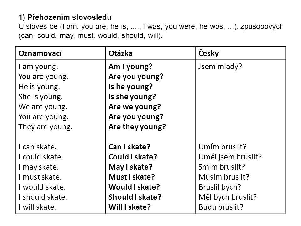 OznamovacíOtázkaČesky I was young.You were young.