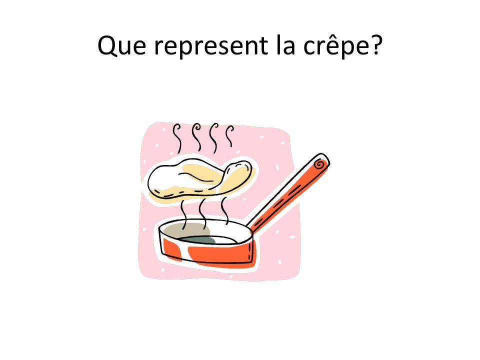 Que represent la crêpe?