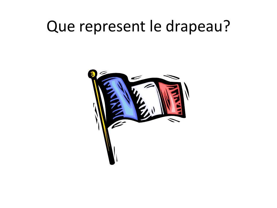 Que represent le drapeau?