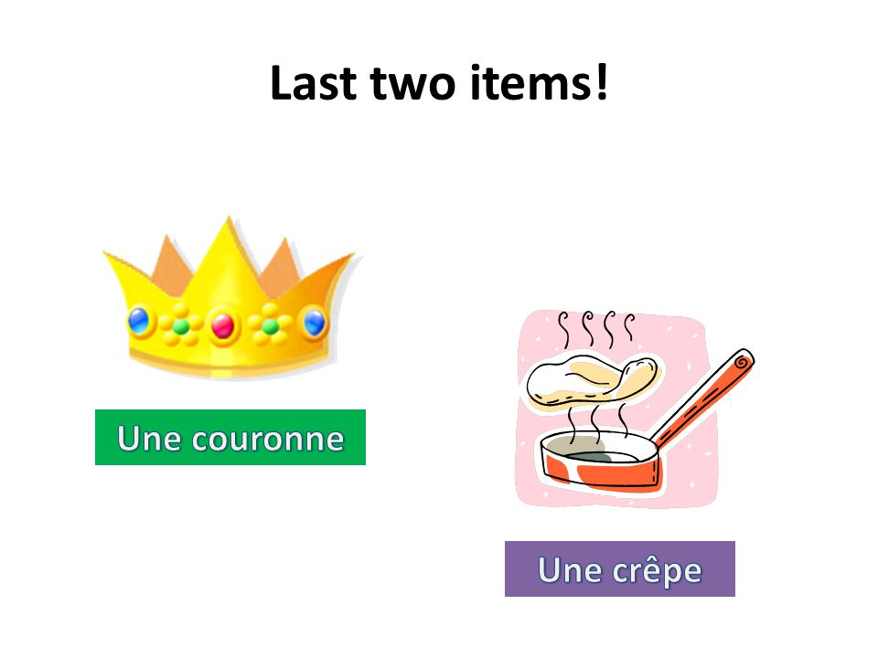 Last two items!