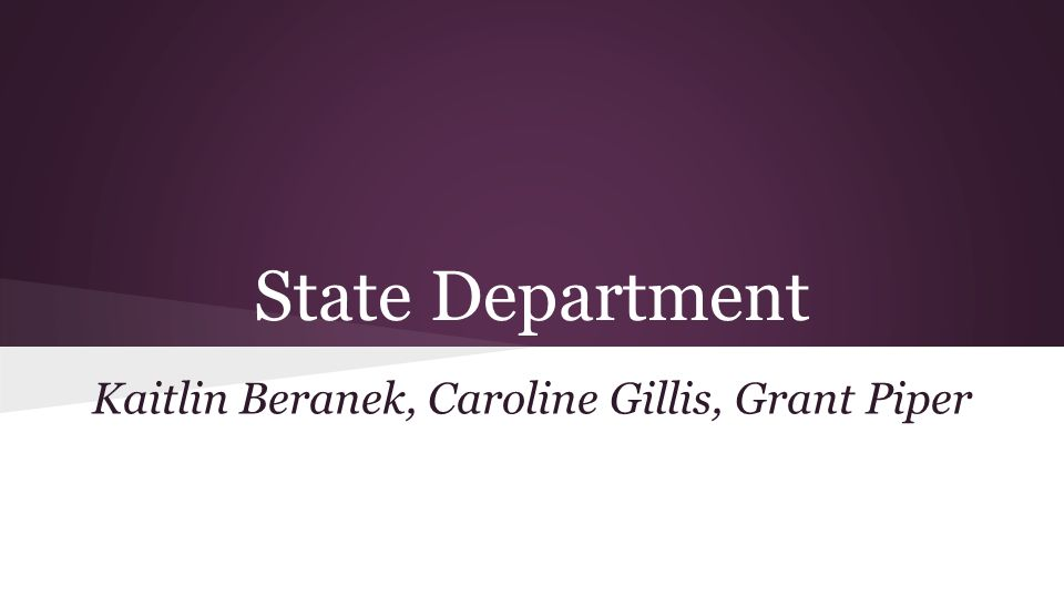 Contents Structure and Role of State Department Desert Shield Background of Conflict - As relates to State Department Main State Department Players Policy Environment - Creating policy or reacting to it.