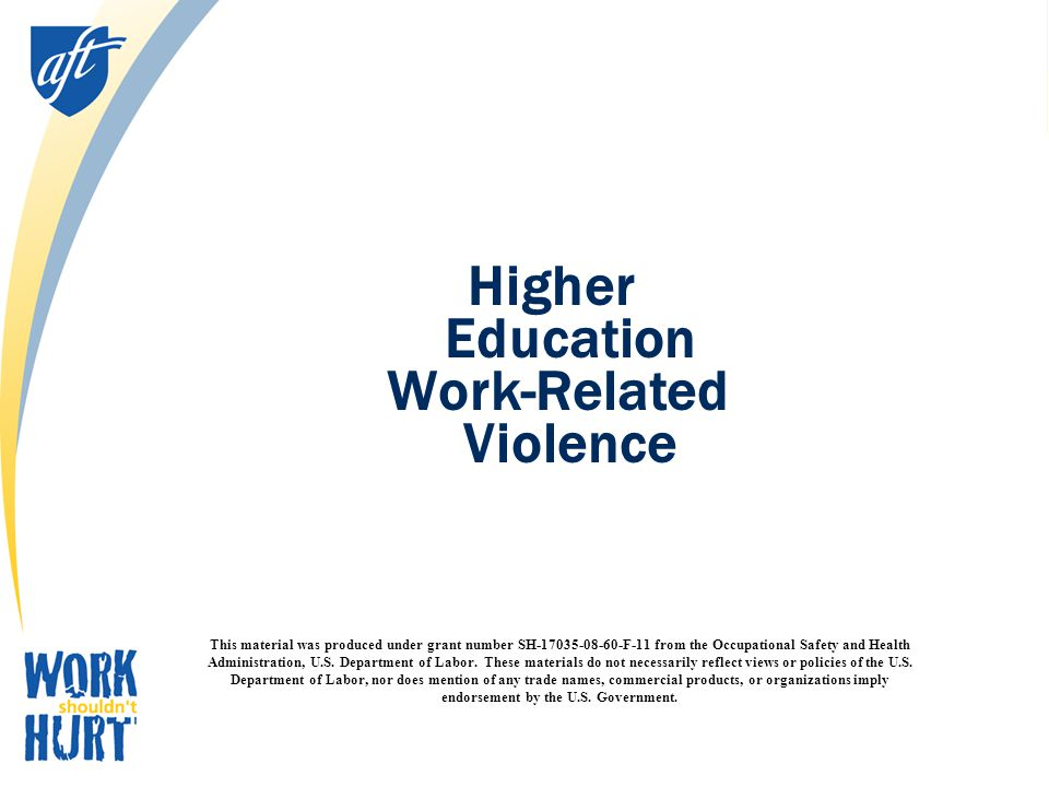 PEF's Stop Workplace Violence Campaign Goals Education Legislation Mobilization