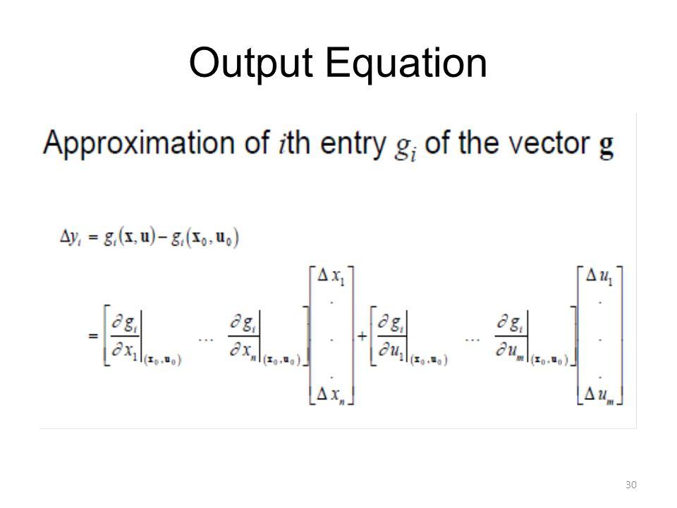 Output Equation 30