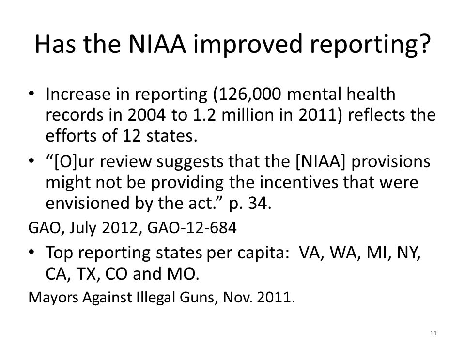 Has the NIAA improved reporting.