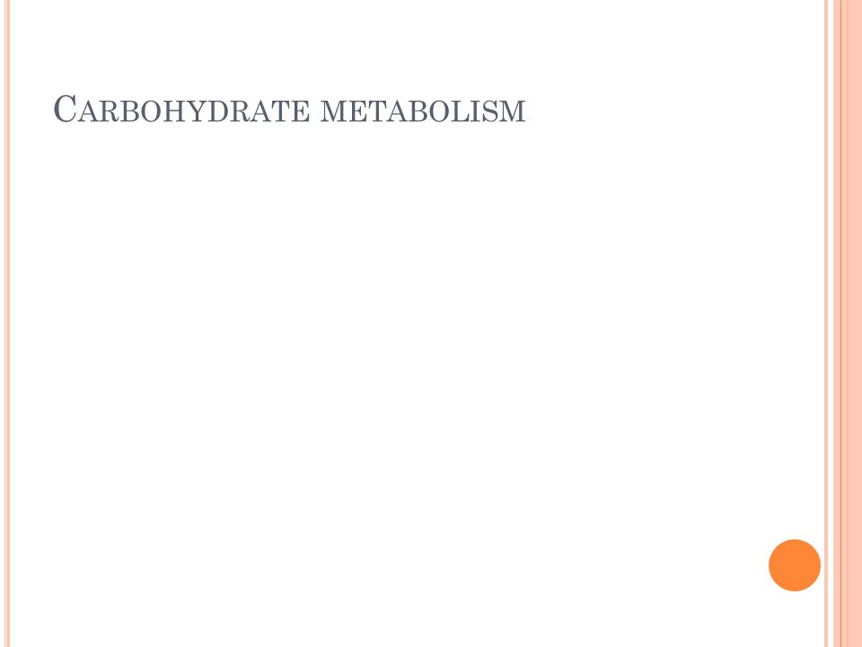 C ARBOHYDRATE METABOLISM