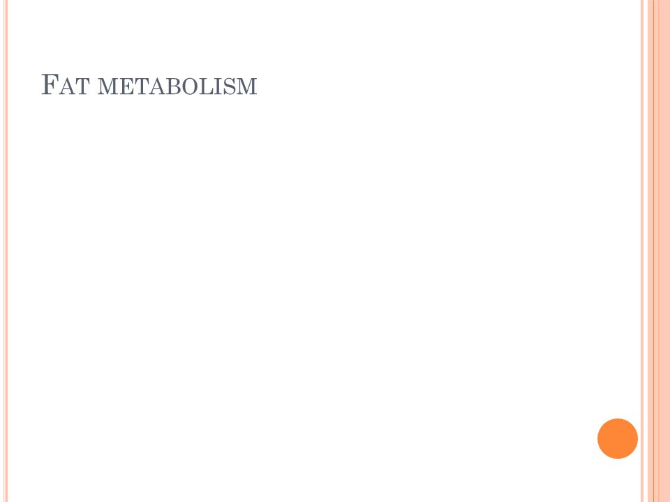 F AT METABOLISM