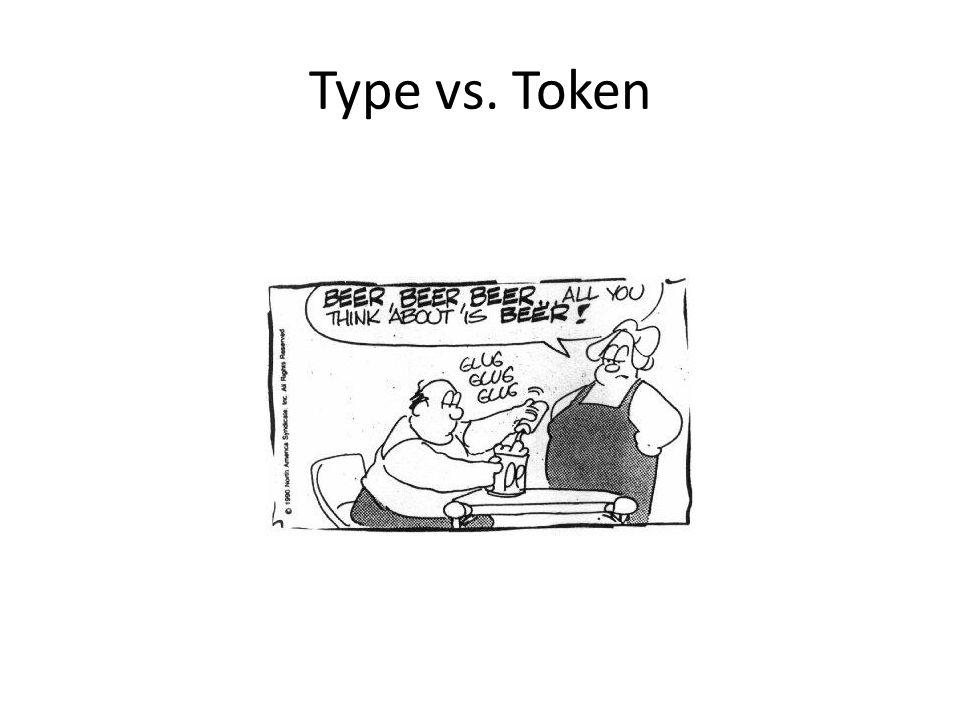 Type vs. Token