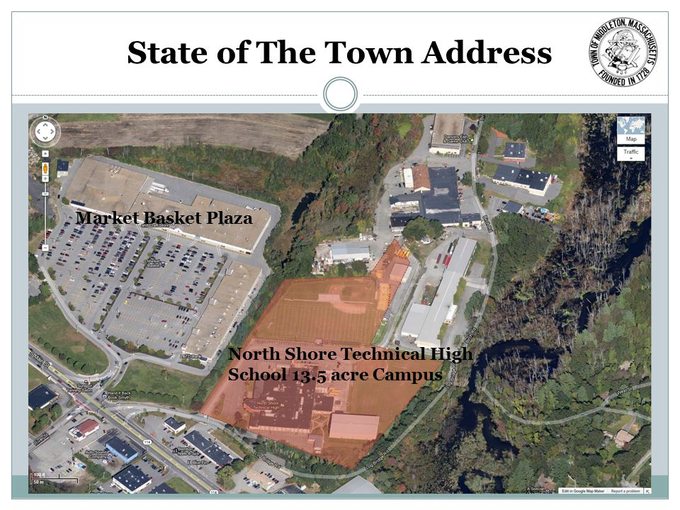 State of The Town Address North Shore Technical High School 13.5 acre Campus Market Basket Plaza
