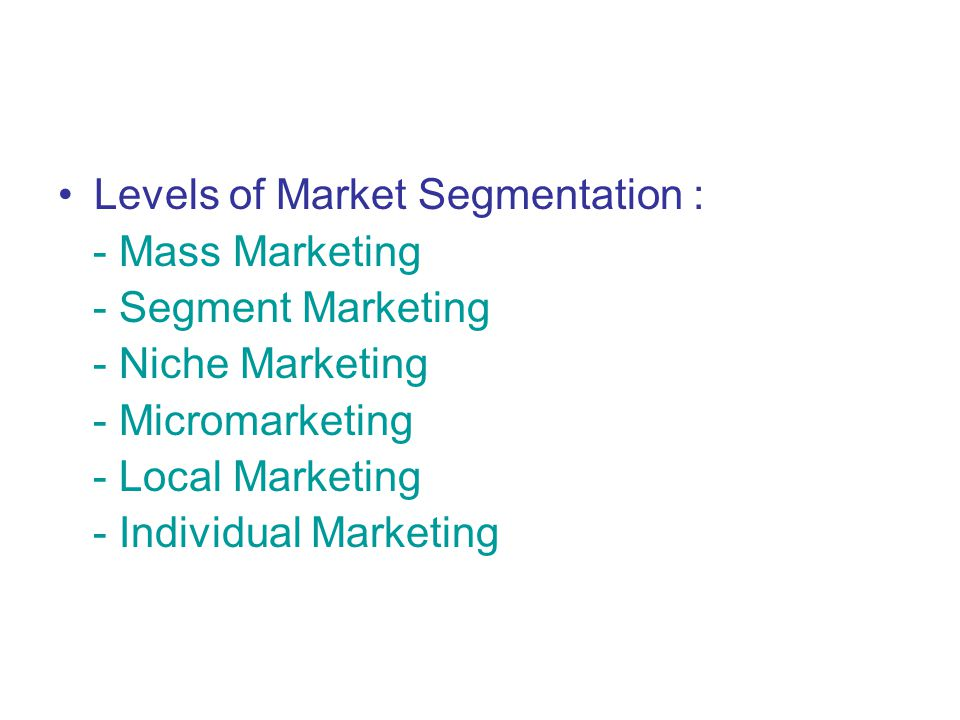Mass Marketing : in 1900s, major consumer products companies held fast to mass marketing : mass producing, mass distributing, mass promoting about the same product in about the same way to all consumers.