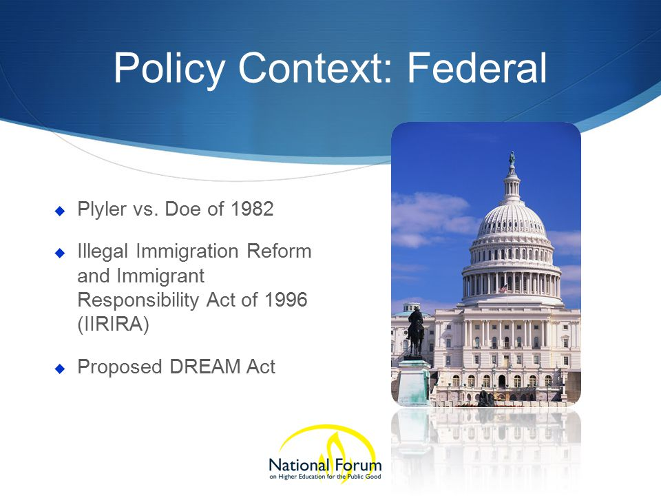 Policy Context: Federal  Plyler vs.