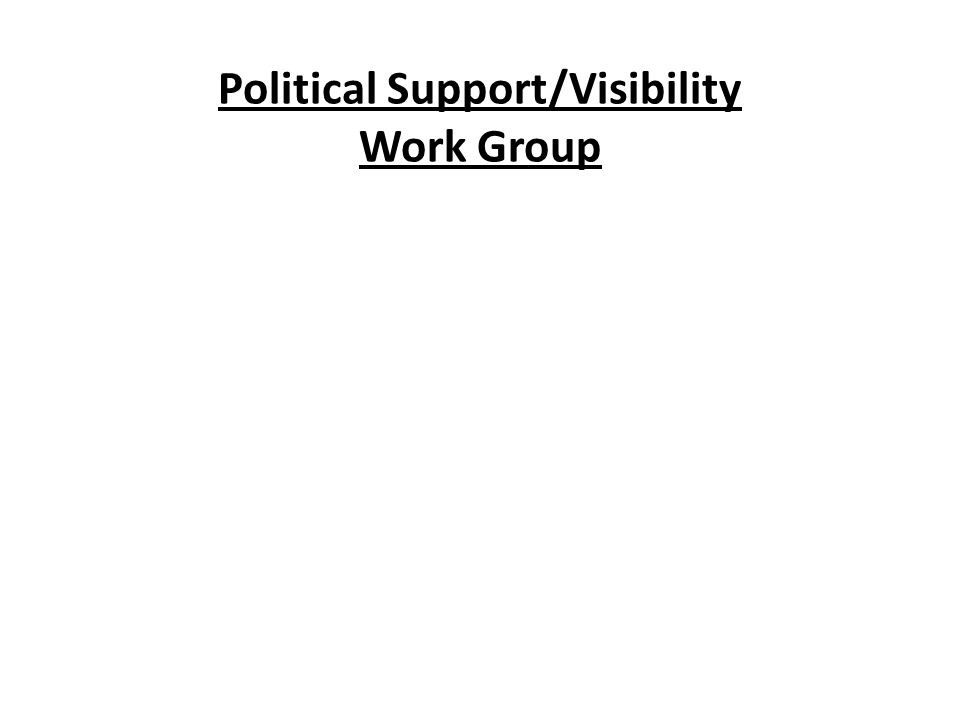 Political Support/Visibility Work Group