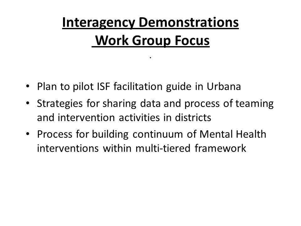 Interagency Demonstrations Work Group Focus.
