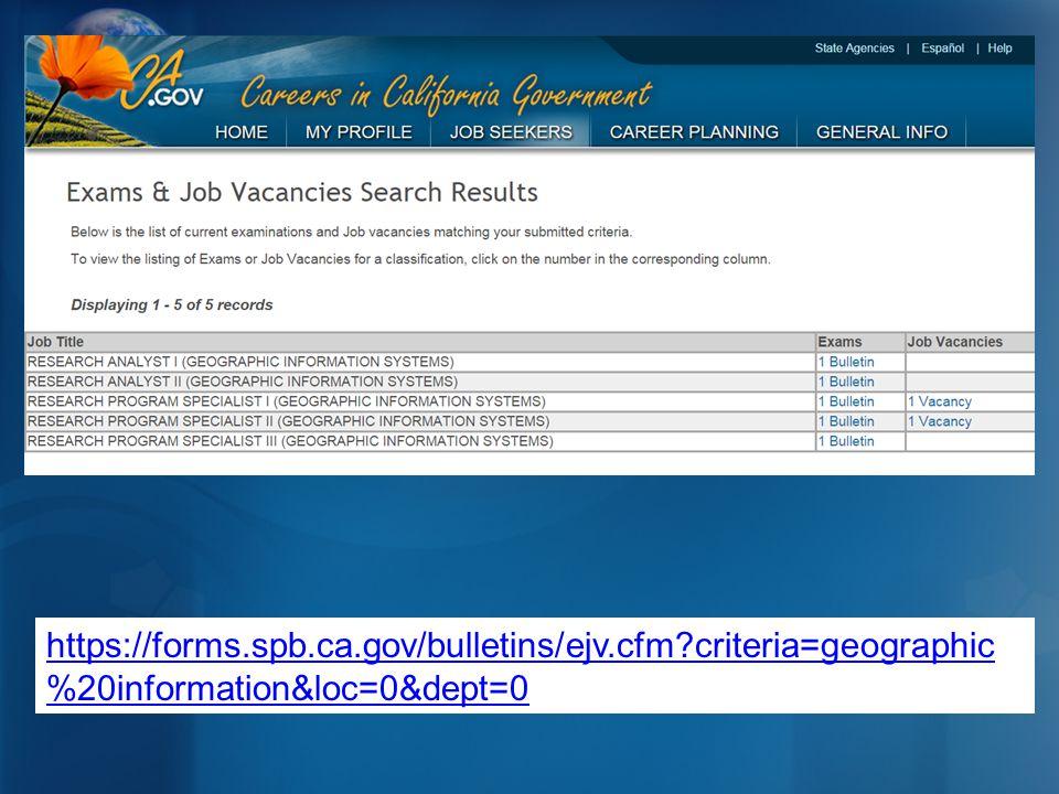 https://forms.spb.ca.gov/bulletins/ejv.cfm?criteria=geographic %20information&loc=0&dept=0
