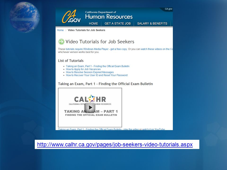 http://www.calhr.ca.gov/pages/job-seekers-video-tutorials.aspx