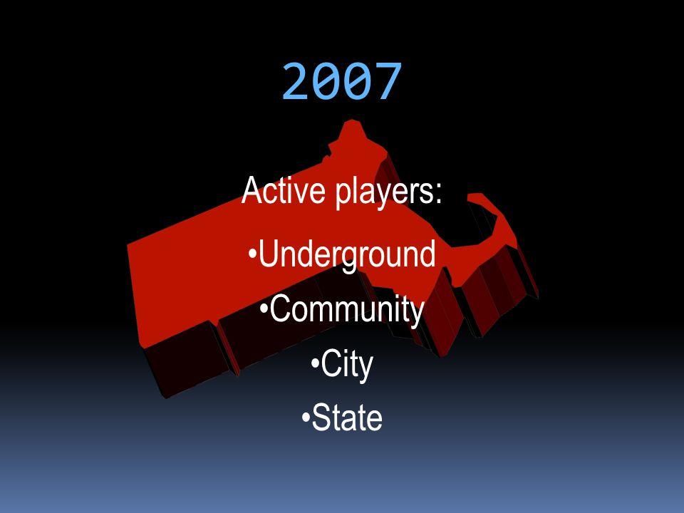 2007 Active players: Underground Community City State