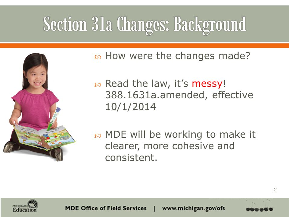  How were the changes made.  Read the law, it's messy.