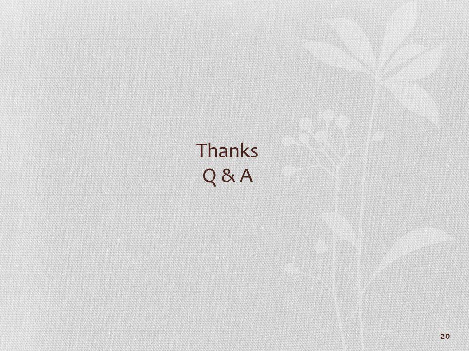 20 Thanks Q & A