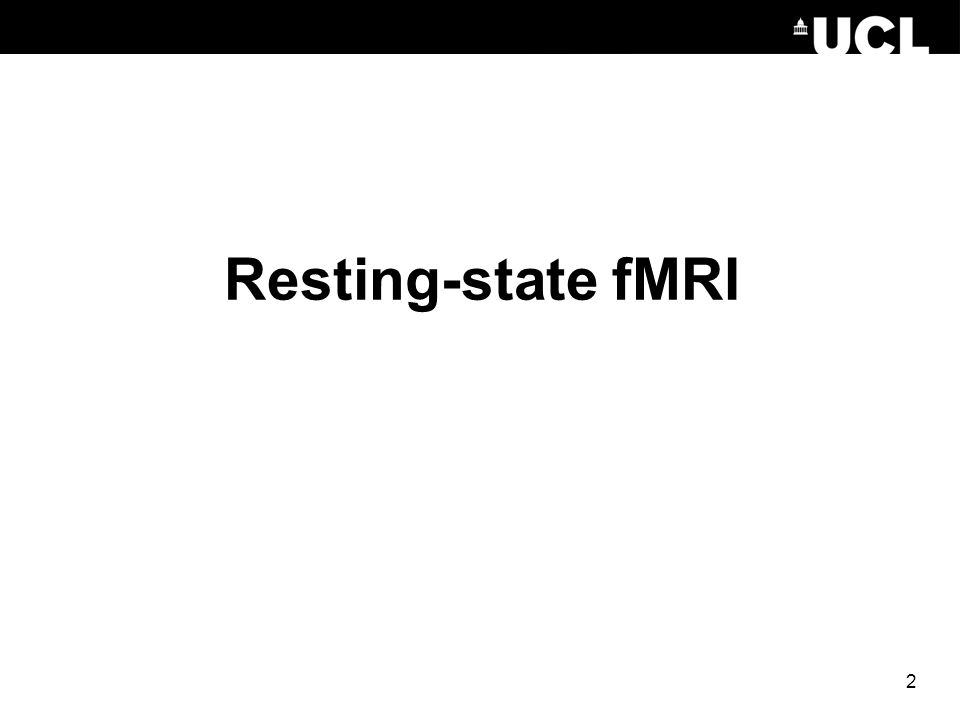 Resting-state fMRI 2