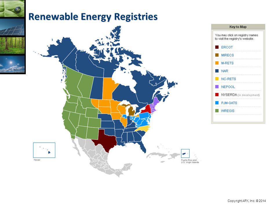 Copyright APX, Inc. © 2014 Renewable Energy Registries