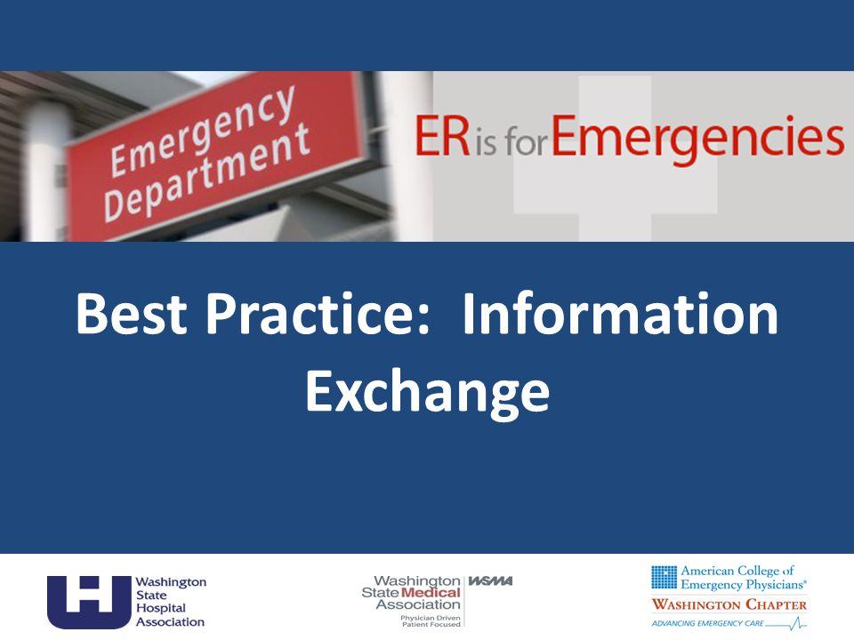 Best Practice: Information Exchange 1