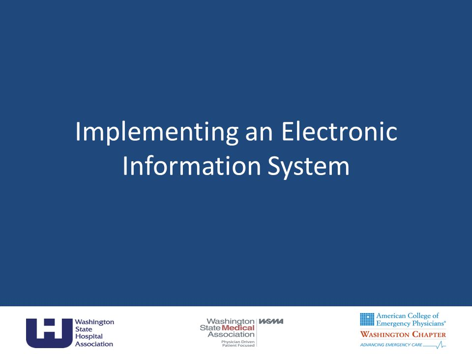 Implementing an Electronic Information System 12