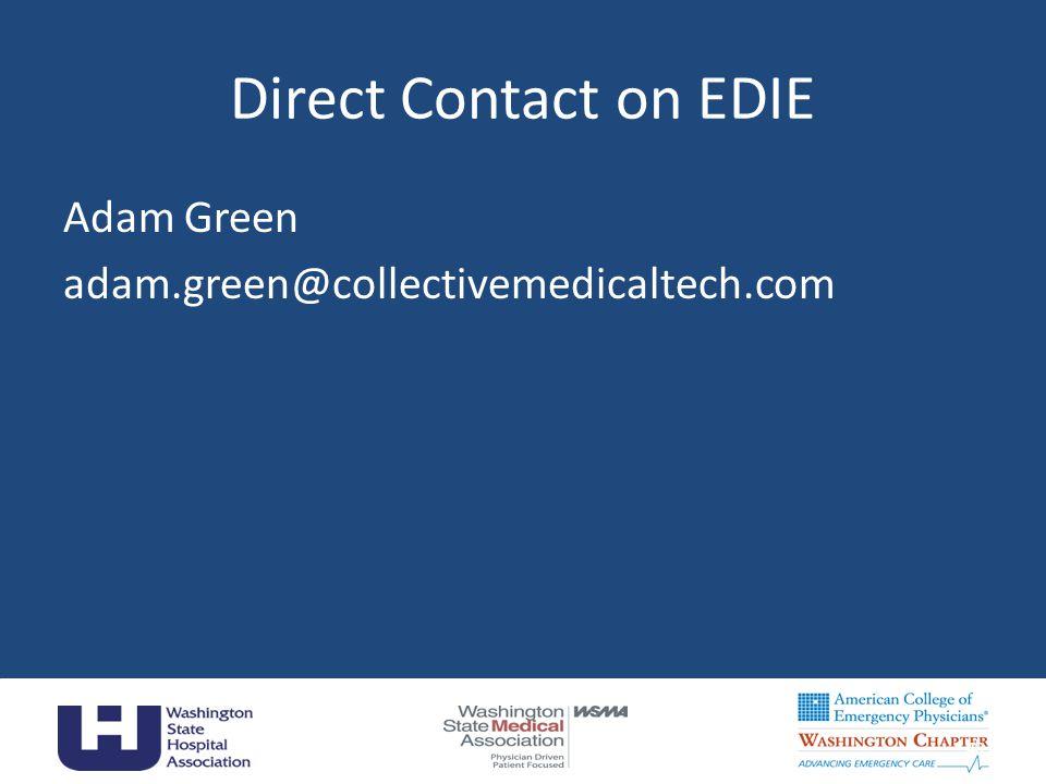 Direct Contact on EDIE Adam Green adam.green@collectivemedicaltech.com 40