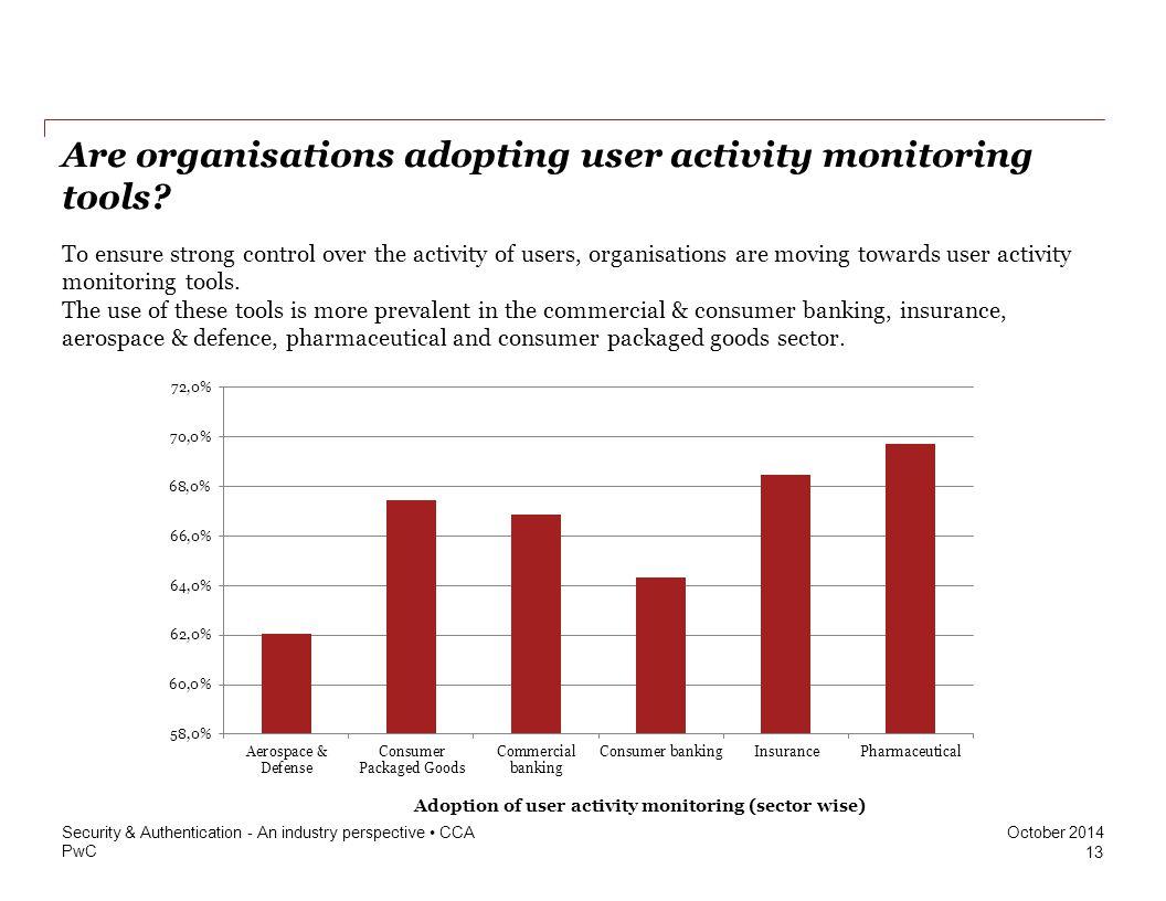 PwC October 2014 Are organisations adopting user activity monitoring tools.