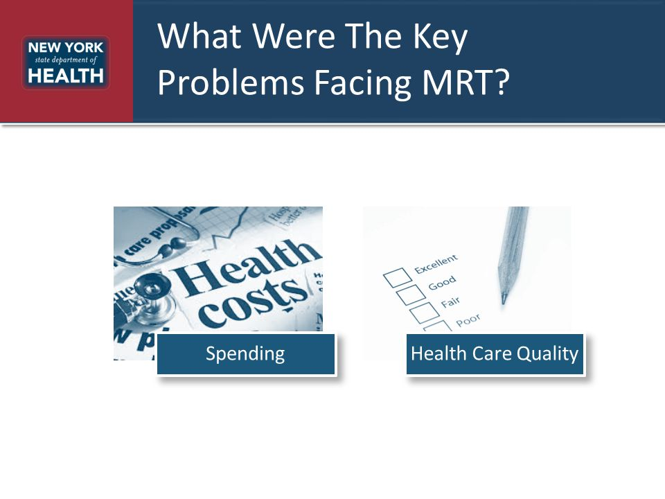 What Were The Key Problems Facing MRT? SpendingHealth Care Quality