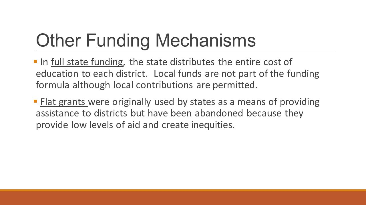Considerations When Choosing a Funding Formula  The key issue related to the funding formula in each respective state appears to be whether the focus is on equity or adequacy.