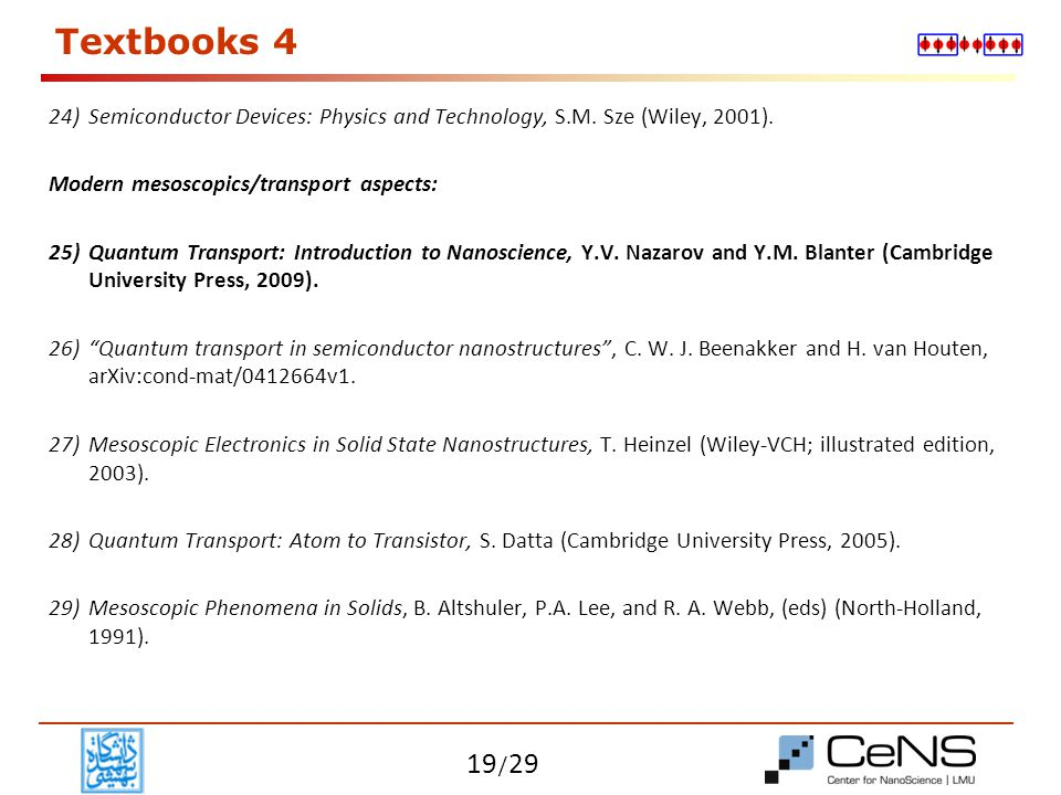 / 29 Textbooks 5 Filed theoretical aspects: 30) Condensed Matter Field Theory, A.