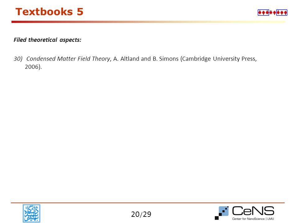 / 29 Syllabus Refer to course brochure 21