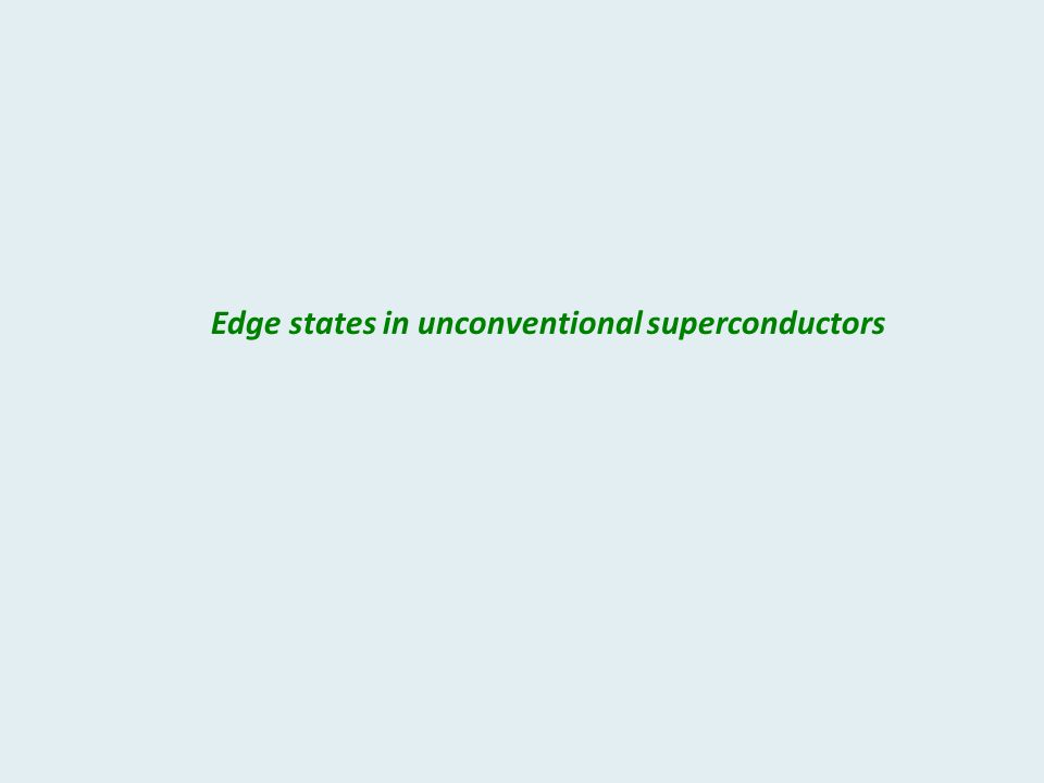 Edge states in unconventional superconductors