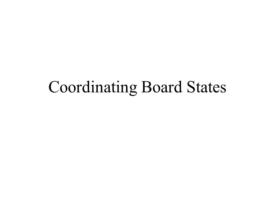 Community Colleges Institution-Level Governing Boards for Each University Several Universities State-level Governing Board State-Level Coordinating Board Explanation: Each public university has a governing board.
